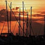 Sunset In Masts, South Fl. Poster