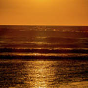 Sunset Over The Ocean Poster