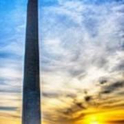 Sunset Washington Monument Poster