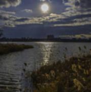 Sunset,lake Poster