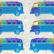 Surfer Vans  Poster