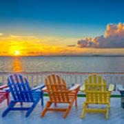 Tampa Bay Sunset Poster