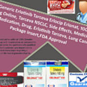 Tarceva Nsclc, Side Effects, Medicine, Cost, Medication, Drug Poster