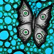 Teal Butterfly Poster by Brenda Higginson