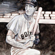 Ted Williams Poster by Dave Olsen
