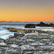 Tessellated Rock Platform And Seascape Poster