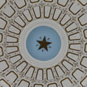 Texas State Capitol - Interior Dome Poster