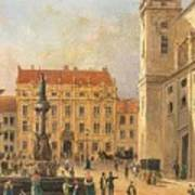 The Austria Fountain On The Freyung In Vienna With Rich Figural Poster