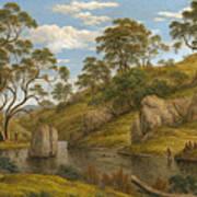 The Bath Of Diana. Van Diemen's Land Poster