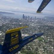 The Blue Angels Over Seattle Poster
