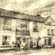 The Bull Pub Theydon Bois Vintage Poster