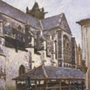 The Church At Moret Poster