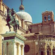 The Equestrian Statue Of Bartolomeo Colleoni In Venice Poster