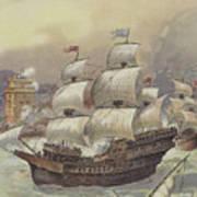 The Fleet Of Jean Ango Blocks The Tagus Poster