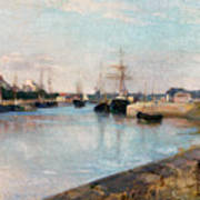 The Harbor At Lorient Poster