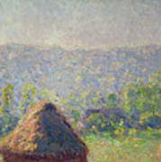 The Haystacks Poster by Claude Monet