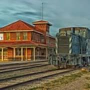 The Historic Santa Fe Railroad Station Poster