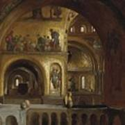 The Interior Of St Marks Basilica Venice Frederick Leighton Poster