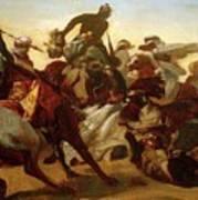 The Lion Hunt Horace Vernet Poster