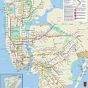 The New York City Pubway Map Poster