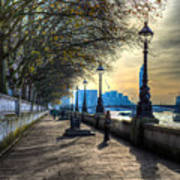 The River Thames Path Poster