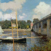 The Seine At Argenteuil Poster by Claude Monet