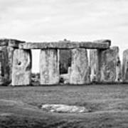 The Slaughter Stone In Front Of View Of Circle Of Sarsen Stones With Lintel Stones Stonehenge Wiltsh Poster