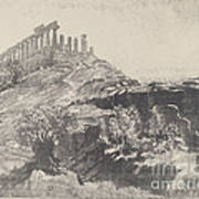 The Temple Of Concord On The Wall, Girgenti Poster