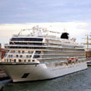 The Viking Star Cruise Liner In Venice Italy Poster