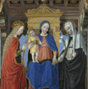 The Virgin And Child With Saints Poster