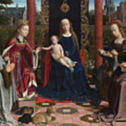 The Virgin And Child With Saints And Donor Poster
