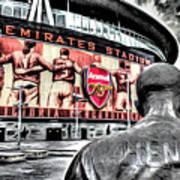 Thierry Henry Statue Emirates Stadium Art Poster