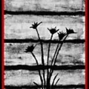 Thistles By The Barn Poster