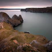 Three Cliffs Bay Gower Poster