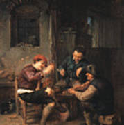 Three Peasants At An Inn Poster