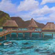 Tiki Hut Vacation Poster