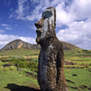 Tongariki Moai On Easter Island Poster