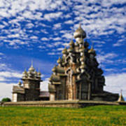 Transfiguration Cathedral On Kizhi Poster