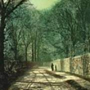 Tree Shadows In The Park Wall Poster