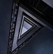 Triangle Staircase Poster