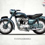 Triumph Thunderbird 1955 Poster