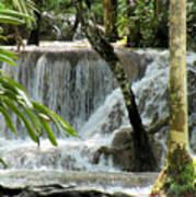 Tropical Waterfall Poster