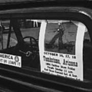 Truck With Right Wing Decal And Helldorado Days Poster Tombstone Arizona 1970 Poster