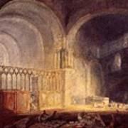 Turner Joseph Mallord William Transept Of Ewenny Prijory Glamorganshire Joseph Mallord William Turner Poster