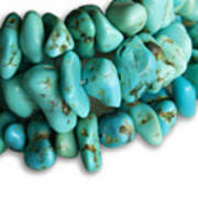 Turquoise Stones Poster