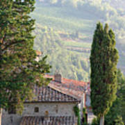 Tuscan Farmhouse At Villa Vignamaggio Poster