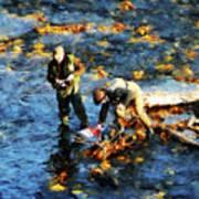 Two Men Fishing Poster