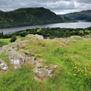 Ullswater Lake From Gowbarrow Fell, Lake District Poster