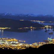 Ulsteinvik By Night Poster