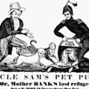 Uncle Sam Cartoon, 1840 Poster